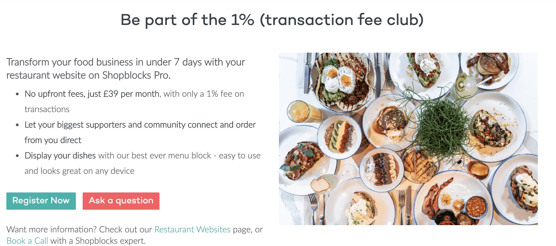 free restaurant websites