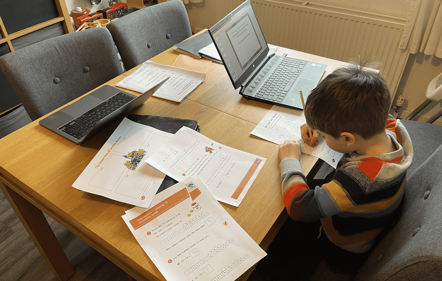 Home schooling and working from home