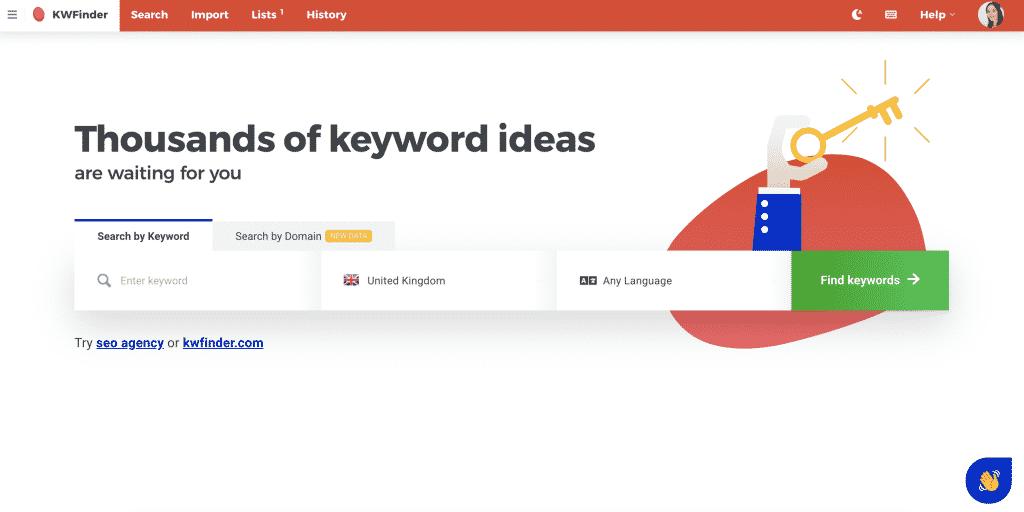 kwfinder keyword research tool